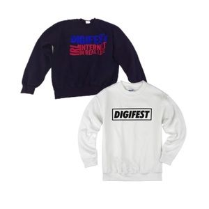 bundle of digifest sweatshirts